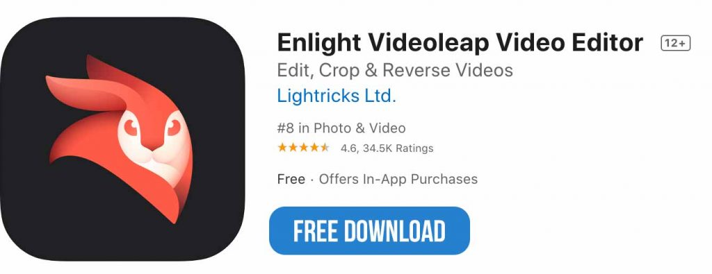Videoleap app free download